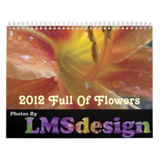 2012 por completo del calendario de las flores