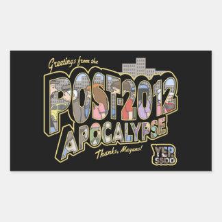 2012-Post-Apocalypse Rectangular Sticker