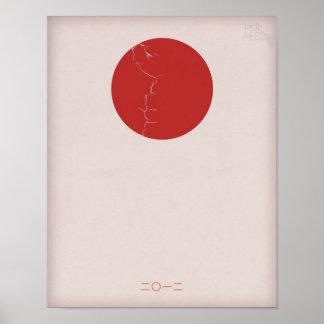 """""""2012"""" posters del alivio del terremoto de Japón"""