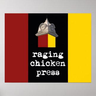 2012 posters del diseño de la prensa del pollo que