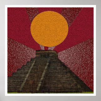 2012 Posters Mayan Chichen Itza Kukulkan