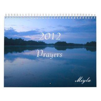2012 Prayers Calendar calendar