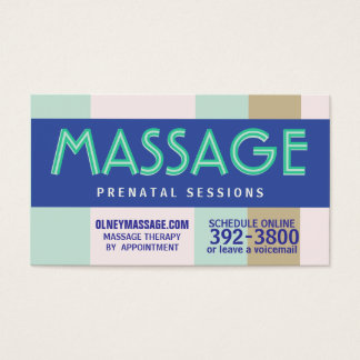 2012 prenatal massage pastel business card