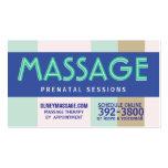 2012 prenatal massage pastel business cards