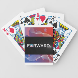 "2012 Presidential Election ""Forward"" Slogan Gear Bicycle Playing Cards"