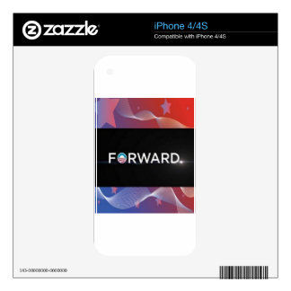 "2012 Presidential Election ""Forward"" Slogan Gear Skins For The iPhone 4S"