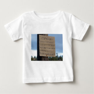 2012 Prophetic Meteor or Avalanche Warning Baby T-Shirt