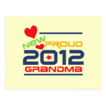 2012 Proud Grandma T-shirts and Gifts Post Cards