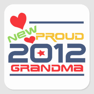 2012 Proud Grandma T-shirts and Gifts Square Sticker
