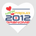 2012 Proud Grandma T-shirts and Gifts Heart Stickers