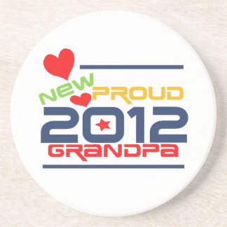 2012 Proud Grandpa T-shirts and Gifts Drink Coasters