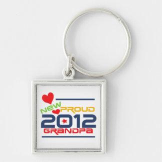 2012 Proud Grandpa T-shirts and Gifts Keychain