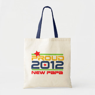 2012 Proud New Papa T-shirts and Gifts Budget Tote Bag