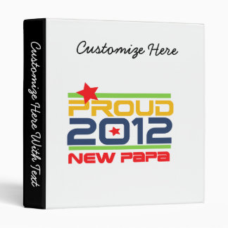 2012 Proud New Papa T-shirts and Gifts Binder
