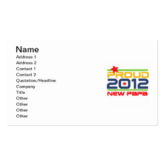 2012 Proud New Papa T-shirts and Gifts Business Cards