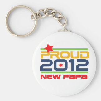 2012 Proud New Papa T-shirts and Gifts Key Chain