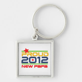 2012 Proud New Papa T-shirts and Gifts Keychain