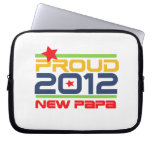 2012 Proud New Papa T-shirts and Gifts Computer Sleeves
