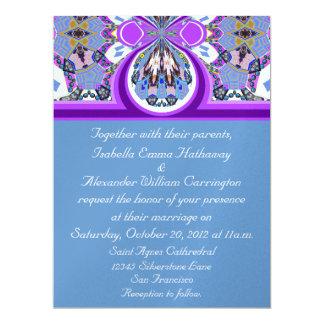 2012 Purple & Blue Ice Wedding Invitation