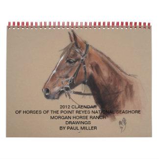 2012 rancho del caballo de Morgan, calendario de