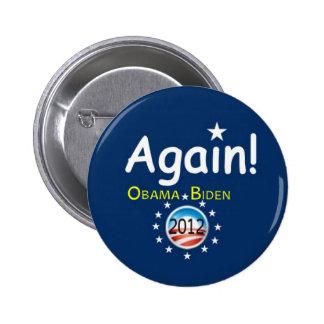 2012 reelija Obama/el botón de Biden Pin Redondo De 2 Pulgadas