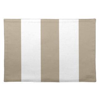 2012 regalo de color caqui y blanco de Placemat de Mantel