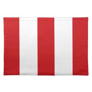 2012 regalo rojo y blanco de Placemat de la raya Mantel Individual