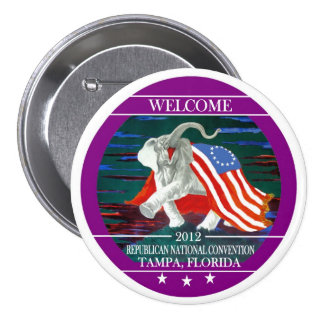 2012 Republican National Convention 3 Inch Round Button