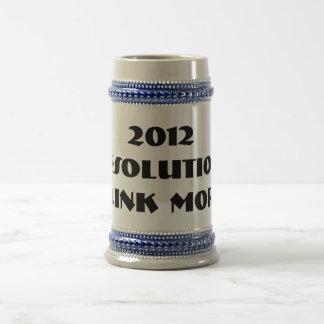 2012 Resolution Beer Stein 18 Oz Beer Stein