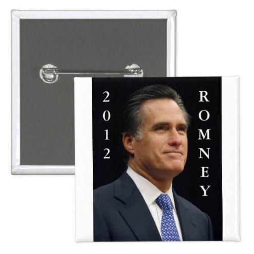 2012 Romney 2 Inch Square Button
