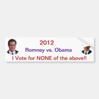 2012 Romney Obama Car Bumper Sticker