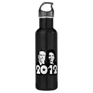 2012 ROMNEY RICE PORTRAIT.png 24oz Water Bottle