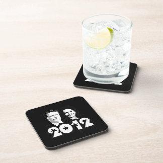 2012 ROMNEY RICE PORTRAIT.png Beverage Coasters