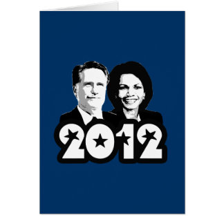 2012 ROMNEY RICE PORTRAIT.png Greeting Card