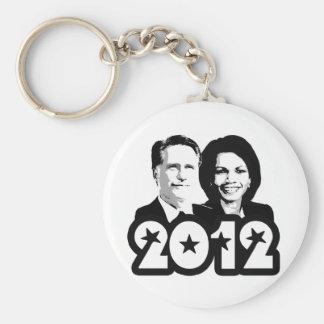 2012 ROMNEY RICE PORTRAIT png Keychains