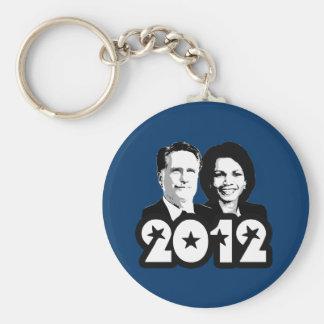 2012 ROMNEY RICE PORTRAIT png Keychain