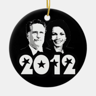 2012 ROMNEY RICE PORTRAIT.png Christmas Tree Ornament