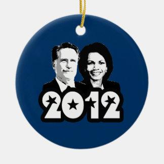 2012 ROMNEY RICE PORTRAIT.png Christmas Ornament