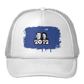 2012 ROMNEY RICE PORTRAIT.png Trucker Hats