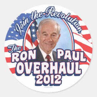 2012 Ron Paul Overhaul Classic Round Sticker