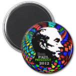 2012 Ron Paul Psychedelic magnet Magnets