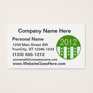 2012 Round Seal Green Color Party Version Business Card