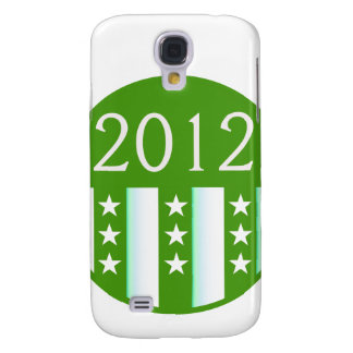 2012 Round Seal Green Color Party Version Samsung Galaxy S4 Cases