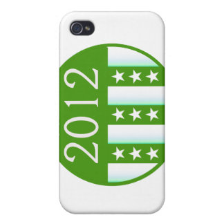 2012 Round Seal Green Color Party Version Covers For iPhone 4