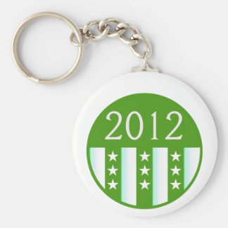 2012 Round Seal Green Color Party Version Key Chain