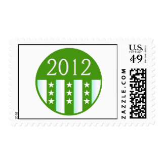 2012 Round Seal Green Color Party Version Stamps