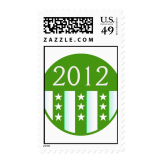 2012 Round Seal Green Color Party Version Postage Stamps