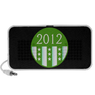 2012 Round Seal Green Color Party Version Travelling Speaker
