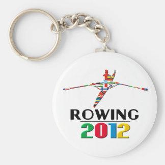 2012: Rowing Basic Round Button Keychain