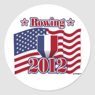 2012 Rowing Classic Round Sticker